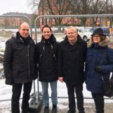 Philip Sandberg med de andra alliansledarna